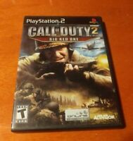 Call Of Duty 2 Big Red One Sony PlayStation 2 PS2 Activision