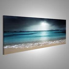 türkis farbenes Meer Strand Bild auf Leinwand ASH-Pano