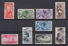 1934 Regno Mondiali Calcio Serie ss. 357/361+A69/72 Usati bei timbri VEDI FOTO