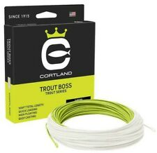 Cortland Trout Boss Chartreuse White Fly Line - ALL SIZES - FREE FAST SHIPPING