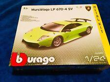 Lamborghini Murcielago LP 670-4 SV Burago 1:24 Kit Montar Maqueta Coche Italia P