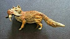 "COLD PAINTED VIENNA BRONZE FOX WITH DUCK ORIGINAL Marked 2.5"" Franz Bergmann"