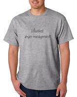 Bayside Made USA T-shirt I Flunked Anger Management Funny Attitude