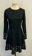 MICHAEL Michael Kors Womens Grommeted Fit & Flare Dress Black Size Medium