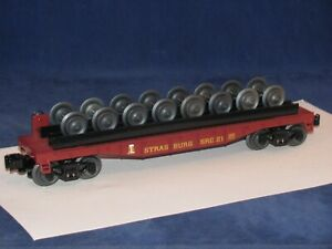 LIONEL STRASBURG FLAT WITH WHEEL LOAD # 26668 WITH BOX