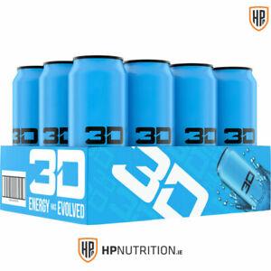 3D Energy Drinks BERRY BLUE Sugar Free, High Caffeine - 12 x 473ml Cans