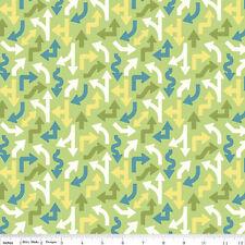 Cruiser Blvd Fabric - Green Arrows - Riley Blake Fabric - Half yard - Fabrics4u2