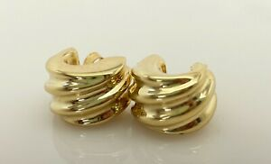 Contemporary/Vintage 18 ct Gold Italian Stud Earrings