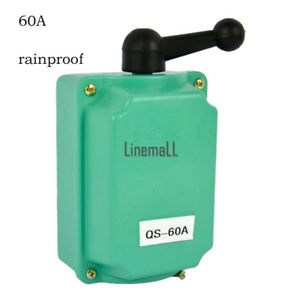 60 A Drum Switch Forward/Off/Reverse Motor Control Rain-Proof Reversing*I1