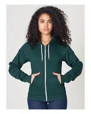 NWT American Apparel Women's Flex Fleece Hoodie Forest Green Size XX-SMALL