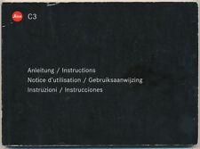 Leica C3 libretto di istruzioni in 6 lingue 2002 E232