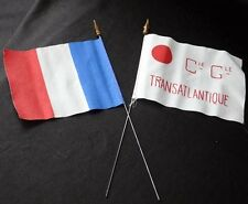 Vintage Cgt French Line Mini Table Top 2 Flag Lot