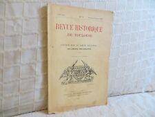 Revue historique de Toulouse études sur le vieux Toulouse 1935 n° 71 Languedoc