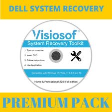 DELL System Recovery Boot Repair Reset CD DVD Disc Windows 10 8 7 Vista XP