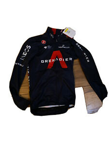 Ineos Greandiers Castelli Long Sleeve Mid Weight FZ Cycling Jersey Small