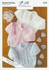 VAT Free KNITTING PATTERN ONLY DK Baby Child Sweaters & Cardigans Teddy 7137 New
