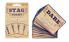 Stag Night Dare Card Game - Party Set Rude Hen Joke Fun Do Holiday