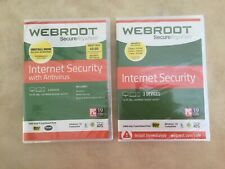 WEBROOT Secure Anywhere Internet Security With Antivirus + Bonus WEBROOT CD