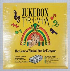 Vintage 1992- Jukebox Trivia Game- Cassette Version- Factory sealed- Ships Free