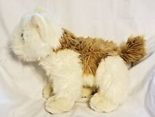 """Realistic Plush Terrier Puppy Dog by EMRAD CREATIONS RARE 11"""" x 13"""""""