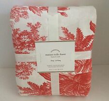 Pottery Barn MATINE TOILE DESERT ROSE KING/CAL KING DUVET COVER ~ New with Tags