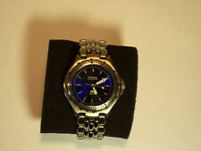 Fossil Blue Stainless Steel case back Watch  AM 3067 Mens