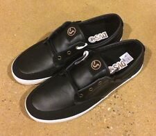 DVS Landmark Size 11 Black Leather BMX DC Skate Deck Boat Shoes