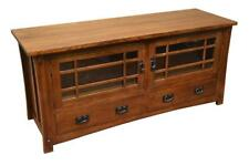 Mission Quarter Sawn White Oak Crofter Style Tv Stand Media Console