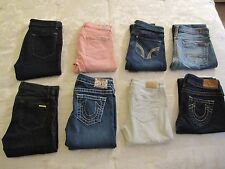 Lot Of 8 True Religion Abercrombie & Fitch 7 For All Mankind Hollister Jeans 26