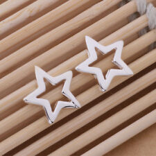925 Sterling Silver Plated Star Stud Earrings + Free Gift Bag.