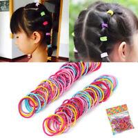 100Pcs/Lot Cute Elastic Tiny Hair Tie Band Rope Ring Ponytail Holder Girl Kids