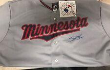 Miguel Sano Minnesota Twins Auto Autographed Grey Jersey COA FREE SHIPPING!