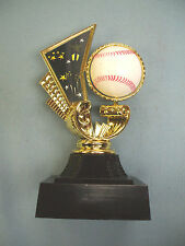 Baseball trophy white spin ball black base As53
