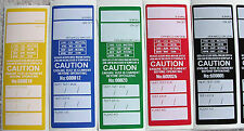 250 PVC ELECTRICAL TEST TAGS / LABELS. MIXED COLOURS, 30 FAILED TAGS & SHARPIE