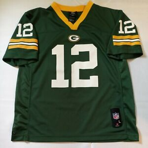 Aaron Rodgers Green Bay Packers NFL Team Apparel Jersey Youth Size L Green 14-16