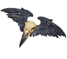Ravenger Raven Crow Winged Skull Wall Plaque Statue Decor V52 Alchemy Gothic