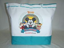 Disney 2000 Disneyana Convention Mickey It A Small World CANVAS TOTE Zipper Bag