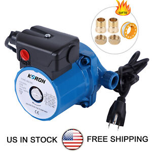 110-120V 3-Speed Circulator Pump NPT 3/4'' Domestic Hot Water Circulation Pump