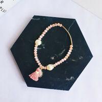 Tassels Pendant Stainless Steel Woman's Bracelet Bracelets Pearl Fashion Crystal