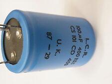 PCB Can Elektrolyt Kondensator LCR 100uF 400V 35mm Dia 50mm Ht #
