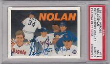 1991 U. D. Heroes Nolan Ryan Texas Rangers Auto. 565/2500 PSA 7 NM, DNA Auto 9