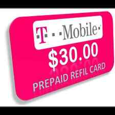 T-Mobile Pay As You Go Phone $30 Refill Card