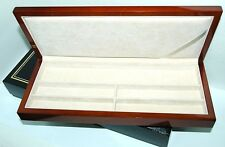 "Long Cherry  Lacquered WOOD Watch - Jewelry BOX 4-7/8"" D X 11-5/8"" W X 1-3/8"" H"