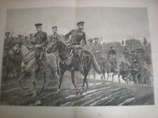 Russian Army troops on the march R Caton Woodville 1887 old print Russia