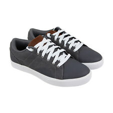Osiris Turin Mens Gray Leather & Textile Athletic Lace Up Skate Shoes 8