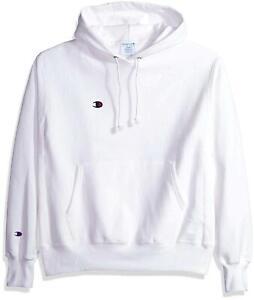 Champion LIFE Men's Reverse Weave Pullover Hoodie,, White, Size Medium nIKt