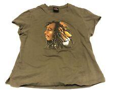 Zion RootsWear Bob Marley Hope Road Face Lion Green Kid L Music Tee Shirt