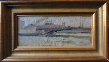 Henriette Tirman, Pont Royal, gouache sur kraft marouflé sur carton