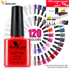 Venalisa Gel Nail Polish Soak Off UV LED Base Coat 120 Colors Salon Professional