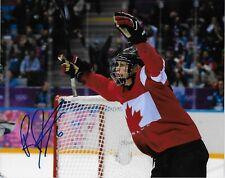 Auto. Rebecca Johnston Team Canada 2014 Sochi Olympics Womens Hockey 8x10 Photo